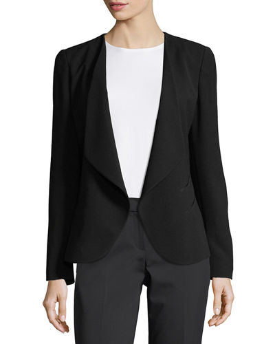 Becca Open-Front Crepe Jacket