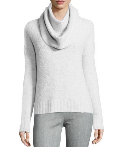 Crewneck Sweater w/ Detachable Scarf