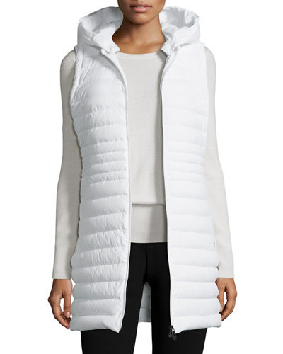 Hooded Zip Front Puffer Vest