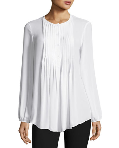 Pintucked Georgette Blouse