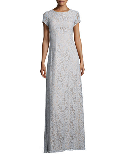 Alice Cap-Sleeve A-Line Gown
