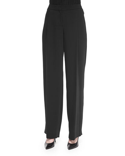 Relaxed Pleated Front Pants