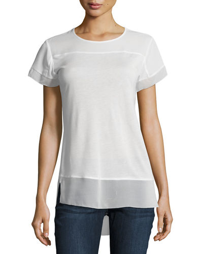 Short-Sleeve Round-Neck Top