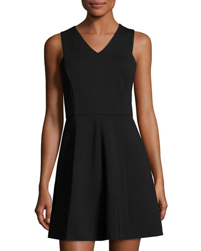Sleeveless Back-Cutout Fit & Flare Dress