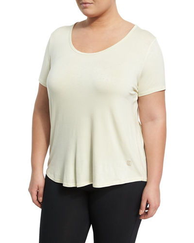 Reina Strappy Back Jersey Tee Plus Size