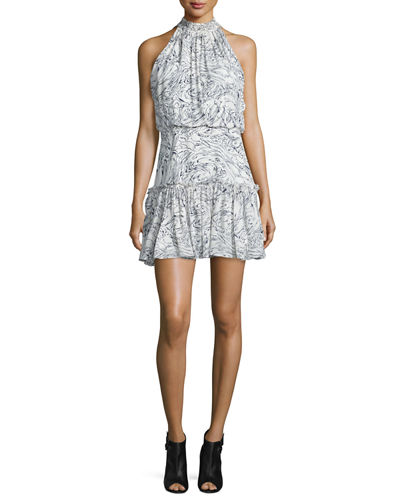 Carlita Halter-Neck Mini Dress