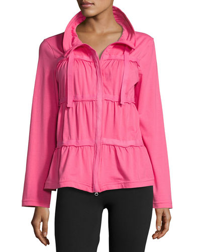 Sassy Ruffled Jersey Jacket