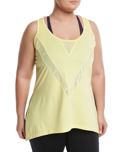 Solid Workout Tank Plus Size