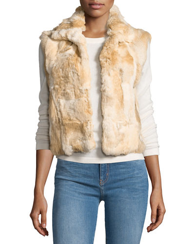 Fitted Rabbit Fur Vest