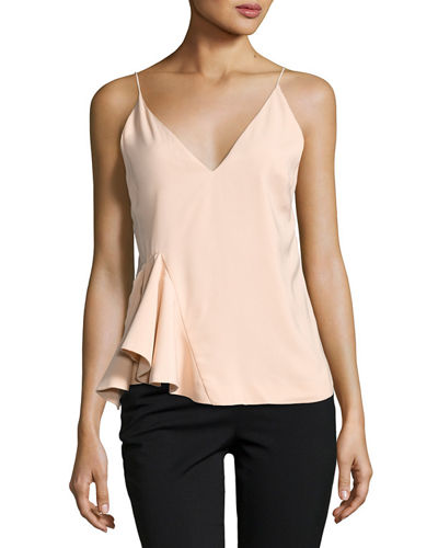 Spelt Out Top with Side Peplum