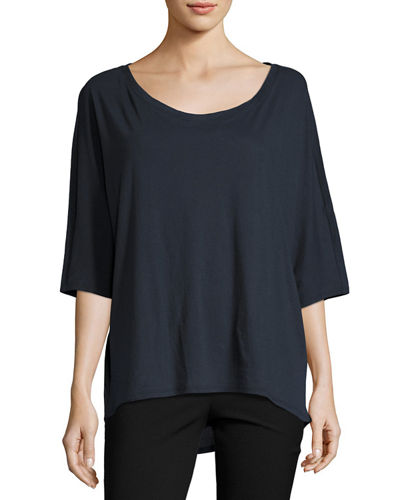 Dolman-Sleeve Relaxed Jersey Top