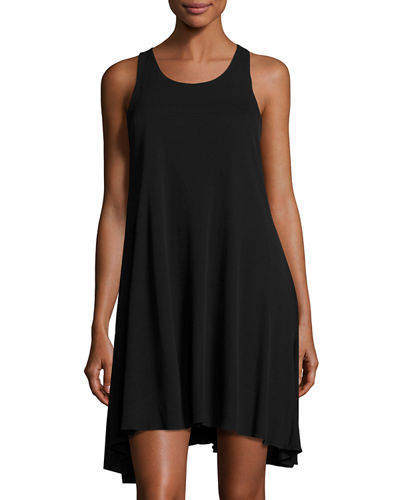Crepe Trapeze Dress