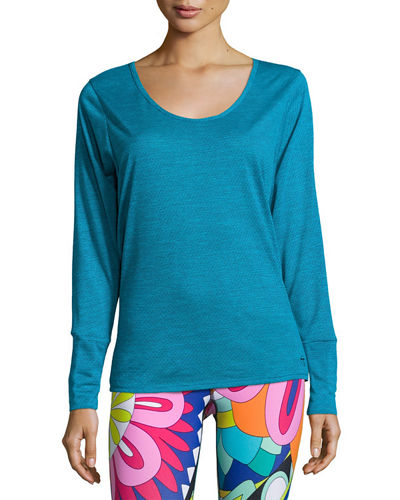 Textured Dolman Cutout Top