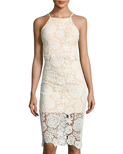 Sleeveless Slim Lace Dress
