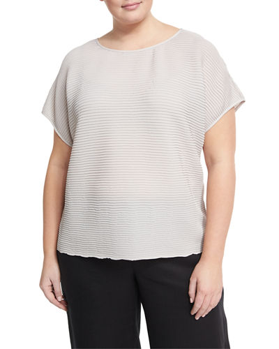 Nadette Pleated Blouse, Plus Size