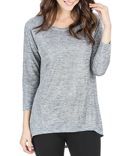 3/4-Sleeve Scoop-Neck Top
