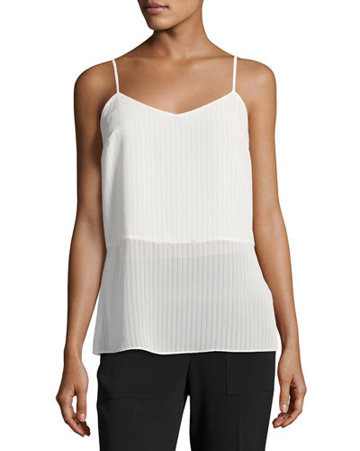 Stripe Pleated Camisole
