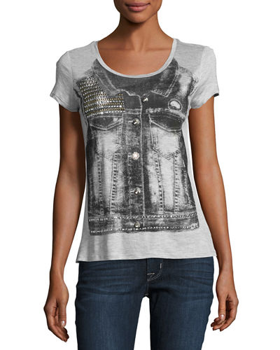 Denim Vest Graphic Tee