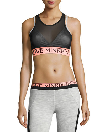 Build Me Up Mesh Panel Sports Bra
