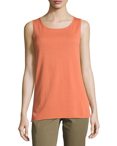 Cotton-Blend Knit Tank