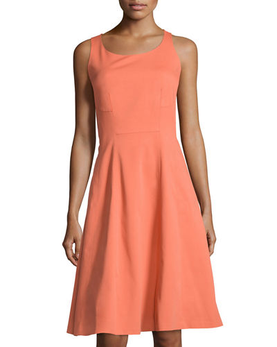 Angelee Cotton-Blend A-line Dress