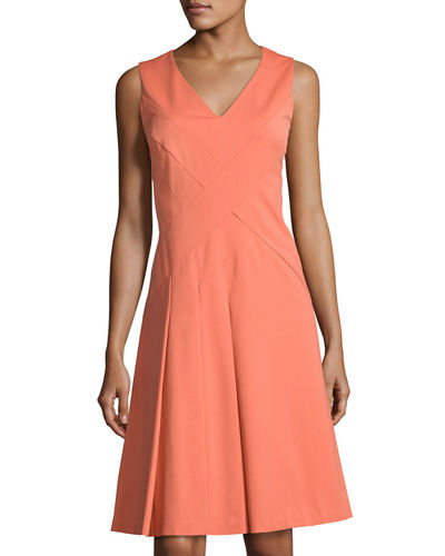 Emery Sleeveless A-line Dress