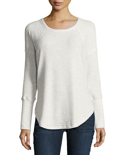 Long Sleeve Thermal Trim Top