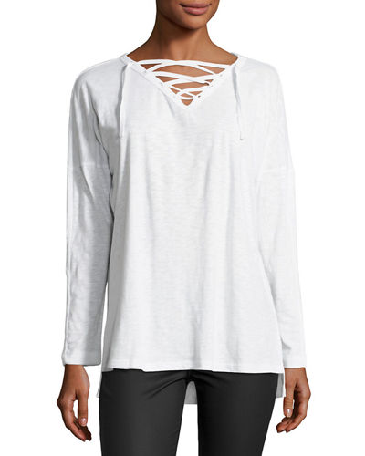 Lace Up Jersey Tee
