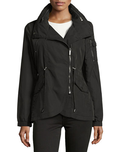 Nylon Anorak Drawstring Jacket