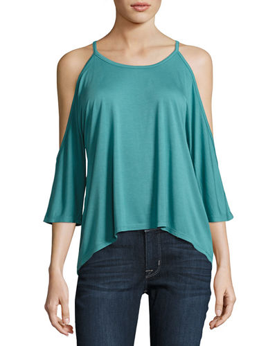 Cold-Shoulder Jersey Tee