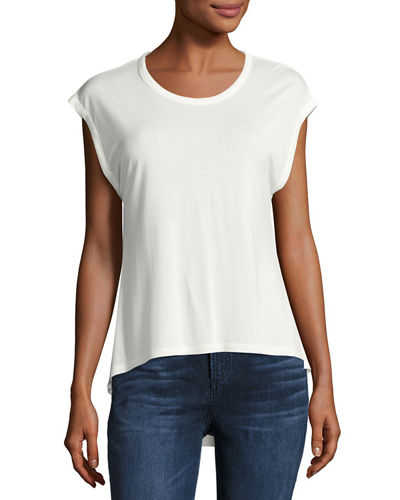Circle Hem Short-Sleeve Tee