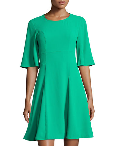Emery Half-Sleeve A-line Dress