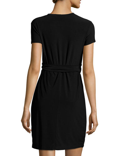 Clara Wraparound-Belted Dress