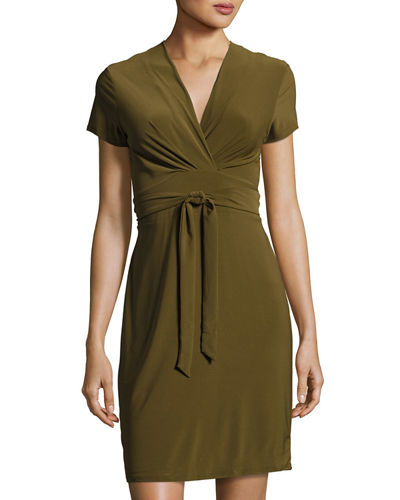 Clara Wraparound Belted Dress