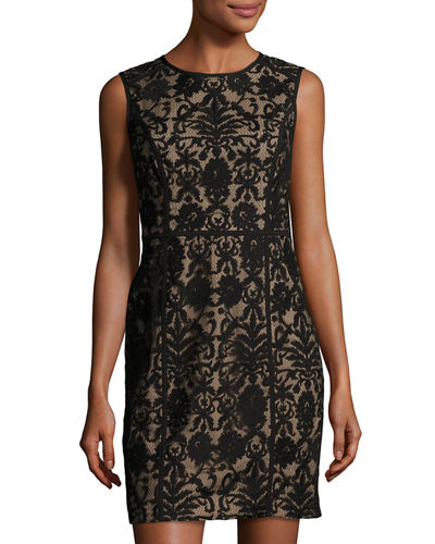 Elenora Sleeveless Embroidered Dress