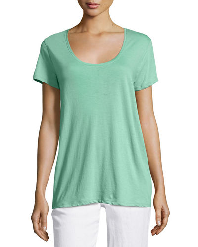 Scoop-Neck Relaxed Tee
