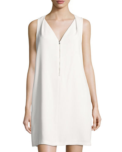 Banning Zip Front Crepe Dress