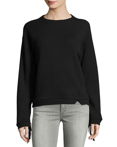 Grace Suede-Fringed Sweater
