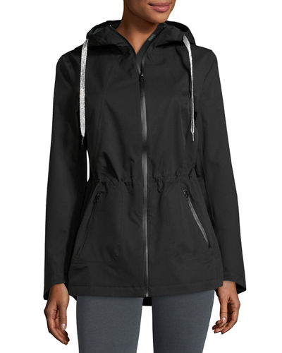 Hooded Zip Front Performance Jacket