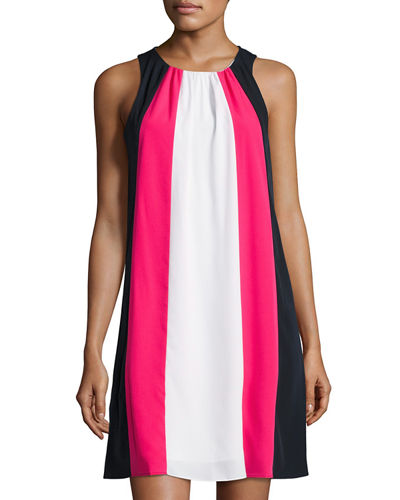 Eva Sleeveless Colorblock A-line Dress