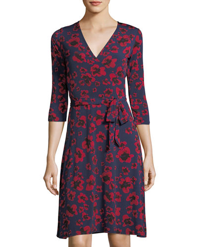 3/4 Sleeve Perfect Wrap Dress