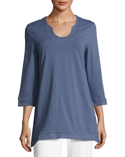 Liberty Notch Neck Jersey Tunic