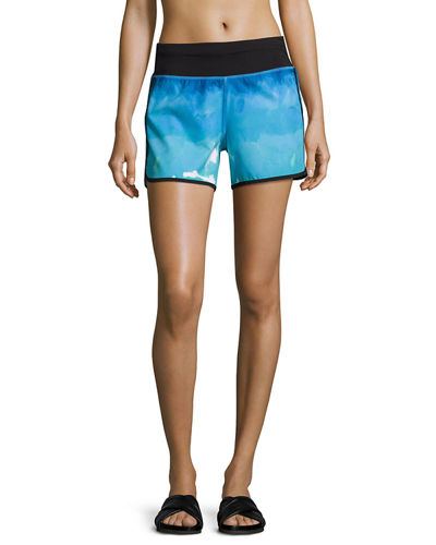 Printed Dolphin Performance Shorts