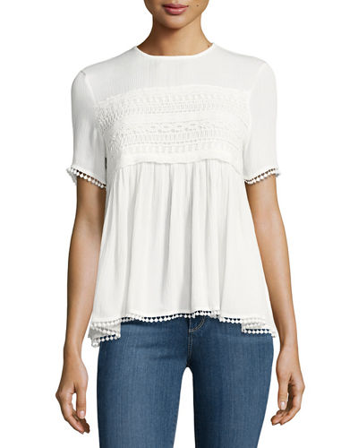 Lace Flared Tee