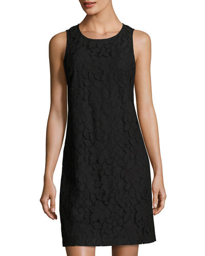 Palm Lace Shift Dress