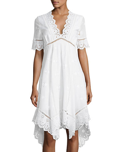 Perry Eyelet Trim Dress
