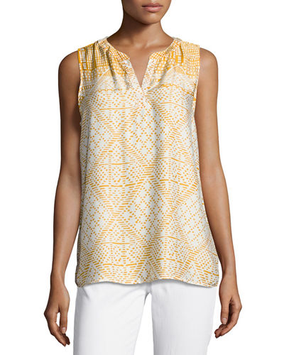 Printed Sleeveless Soft Top