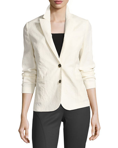 Monili Bead-Trim Wool Blazer