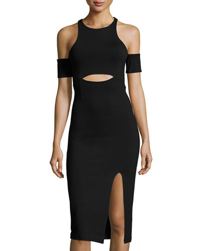 Leon Cold-Shoulder Sheath Dress