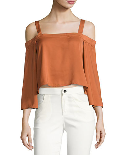 In Full Light Cold Shoulder Top